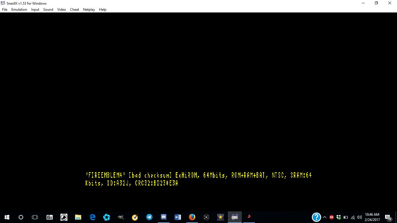 Snes9x Windows 10